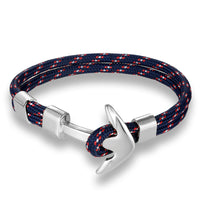 Red, Blue & Silver Anchor Bracelet