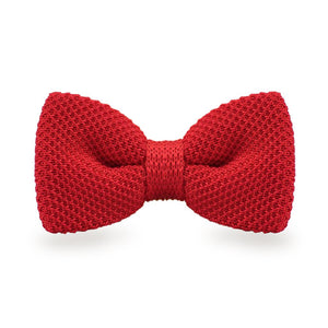 Red Knitted Bow Ties