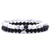 black and white bead bracelet UK