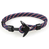 Blue, Red & Black Anchor Bracelet