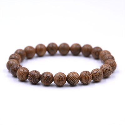 Wooden 6mm Buddha Bead Bracelet