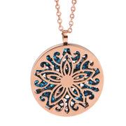 Steel Rose Gold Flower Necklace