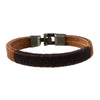 Brown Leather and Rope Bracelet