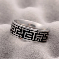 Silver Mantra Steel Ring