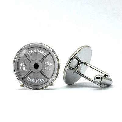 Barbell Weightlifting Cufflinks
