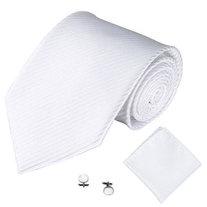 White Mens Skinny Ties