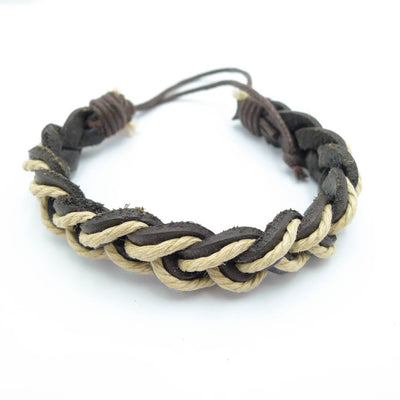 leather multilayer retro men bracelets
