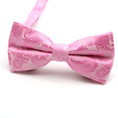 Pink Printed Men's Bow Ties
