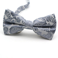 Grey Printed Men's Bow Ties