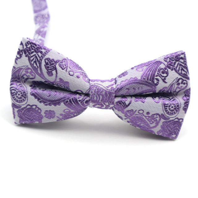 Purple Printed Bow Ties