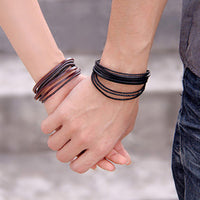 best mens leather bracelet UK