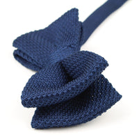 Navy Knitted Bow Ties UK