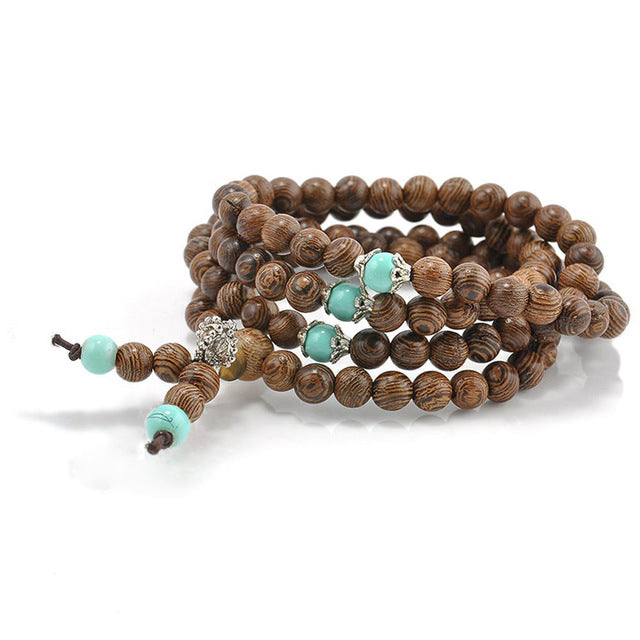 Sandalwood Multi Layer Bead Bracelet