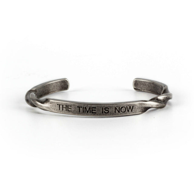 'The Time Is Now' Titanium Bangle