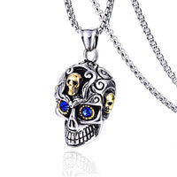 Best Silver & Gold Gem Skull Necklace