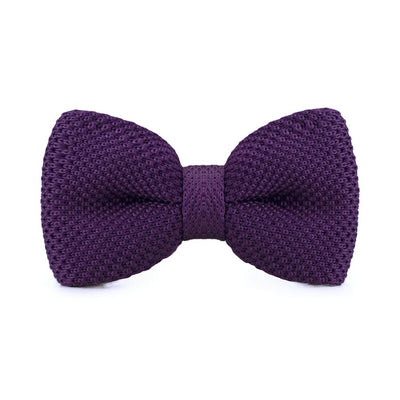 Purple Mens Knitted Bow Ties