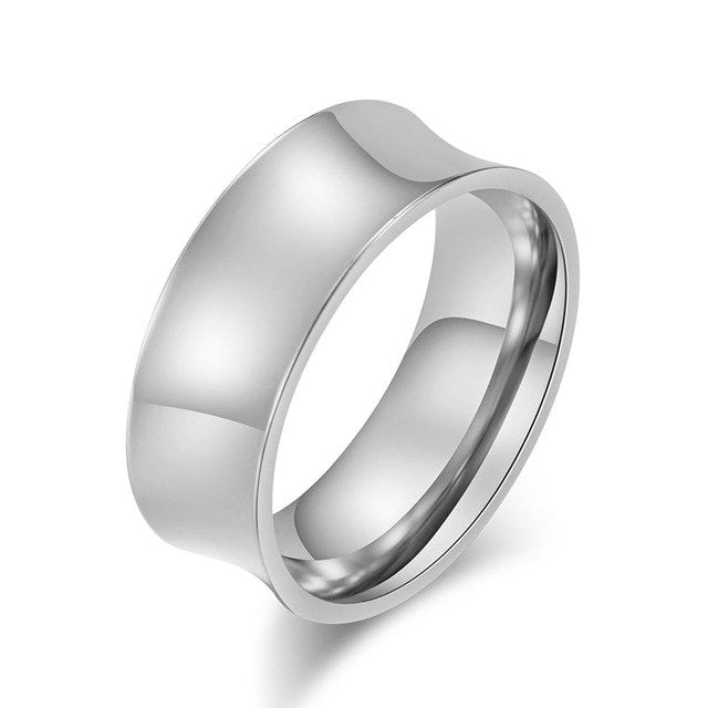 Silver Curve Steel Ring
