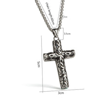 Stainless Steel Vintage Cross Necklace
