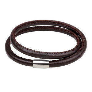 Soft Brown Leather Wrap Bracelet