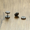 Brushed Steel Stud Earrings Online
