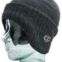 Charcoal Winged Thermal Beanie