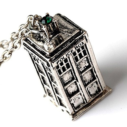 Dr Who Tardis Necklace & Pendant