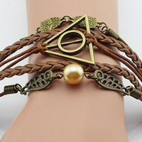Leather Multi Charm Bracelet