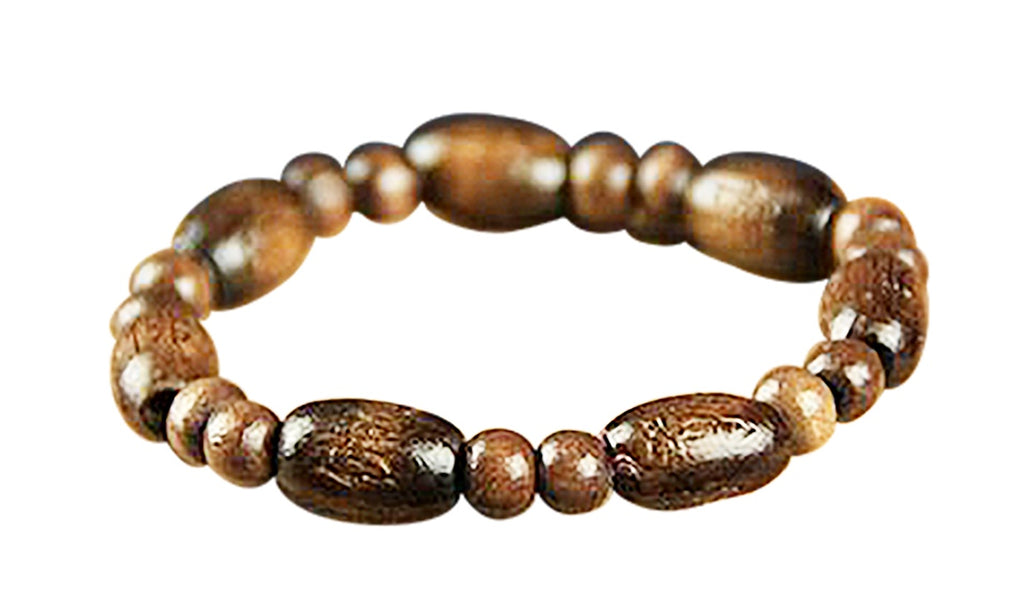 Natural Wood Bead Bracelet UK