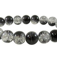 Black Glass Bead Bracelet