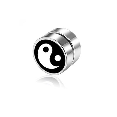 8mm Magnetic Yin Yang Earring
