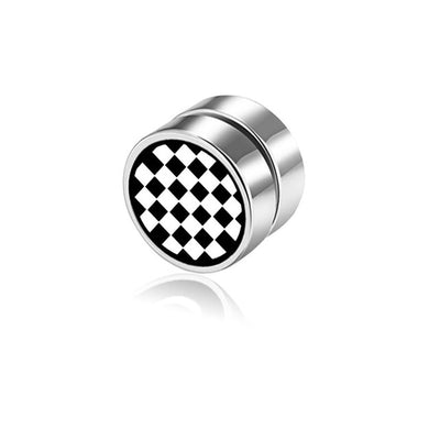 8mm Magnetic Stud Check Earring