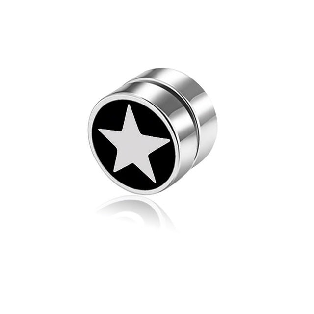 Silver Magnetic Star Earring