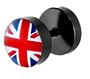 Union Jack Stud Earring for men