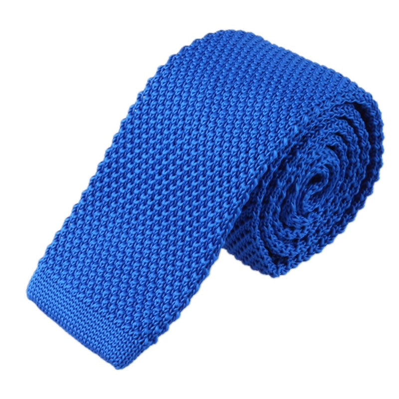 Blue Mens Knitted Ties UK