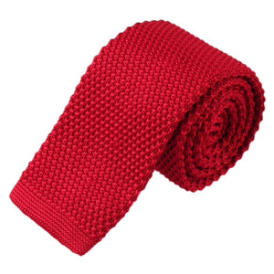 Red Mens Knitted Ties