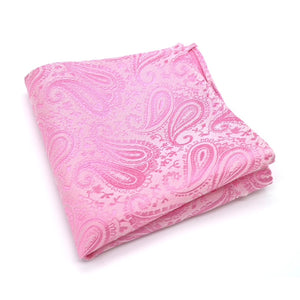 Pink Paisley Silk Pocket Square