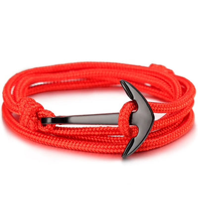Red Rope Anchor Bracelet