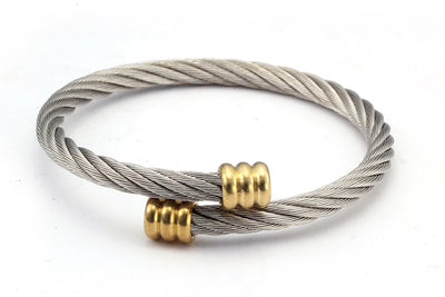 Stainless Steel Gold Twist Bracelet