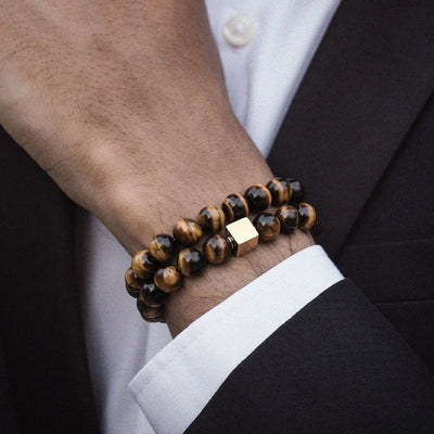 Tigers Eye Bead Bracelet Combo