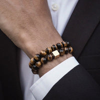 Tiger Eye Gold Bracelet