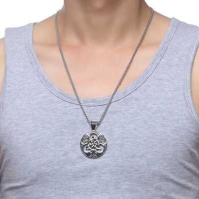 Steel Celtic Necklace