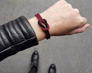 Red & Black Rope Bracelet