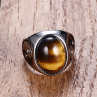 Tigers Eye Yin Yang Steel Online