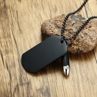 Bullet & Dog Tag Necklace
