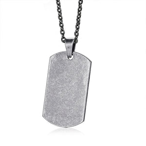 Single Dog Tag Necklace