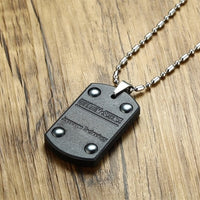 Lava Stone Dog Tag Necklace