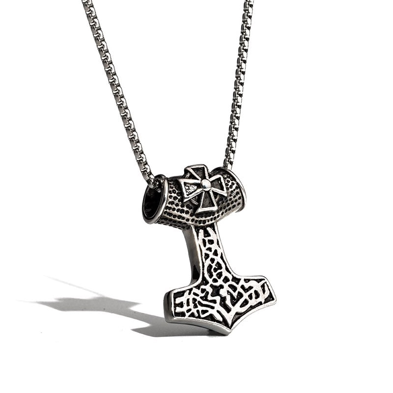 Double Sided Thor's Hammer Necklace
