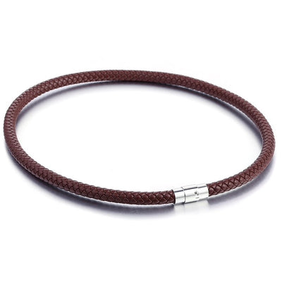 6mm Brown Leather Necklace