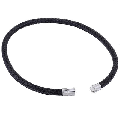 6mm Black Leather Necklace