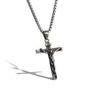 Stainless Steel Crucifix Necklace